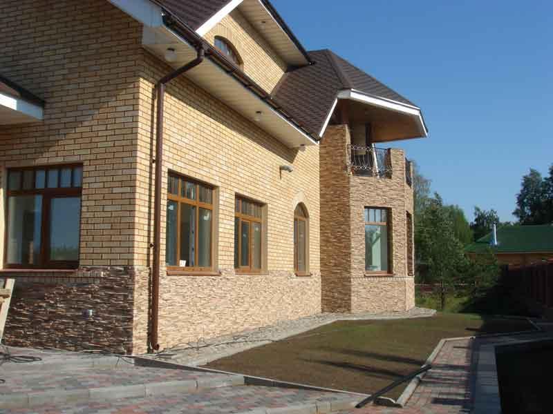 Отделка фасадов дачных домов фото
