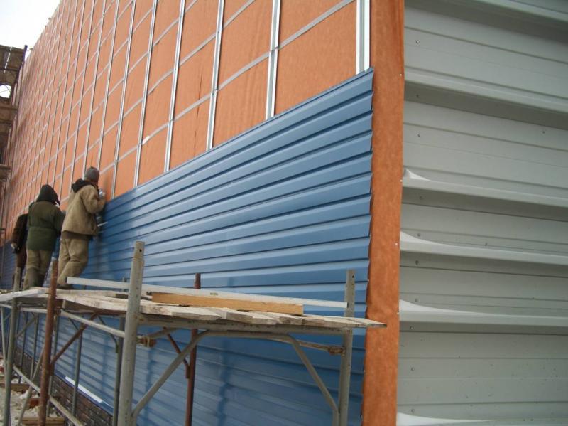 Облицовка фасада сендвич-панелями фасадные работы ac-holding.